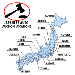 Auction House Locations Across Japan